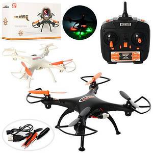 Квадрокоптер XS802 (12шт) р/у2,4G,аккум,свет,USBзарядн,запас лопасти,2цв,в кор-ке,38-19,5-8,5см