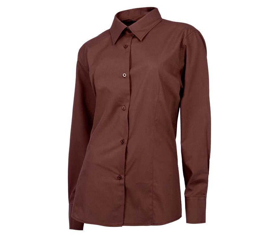 Рубашка для официанта классическая коричневая Atteks - 02301