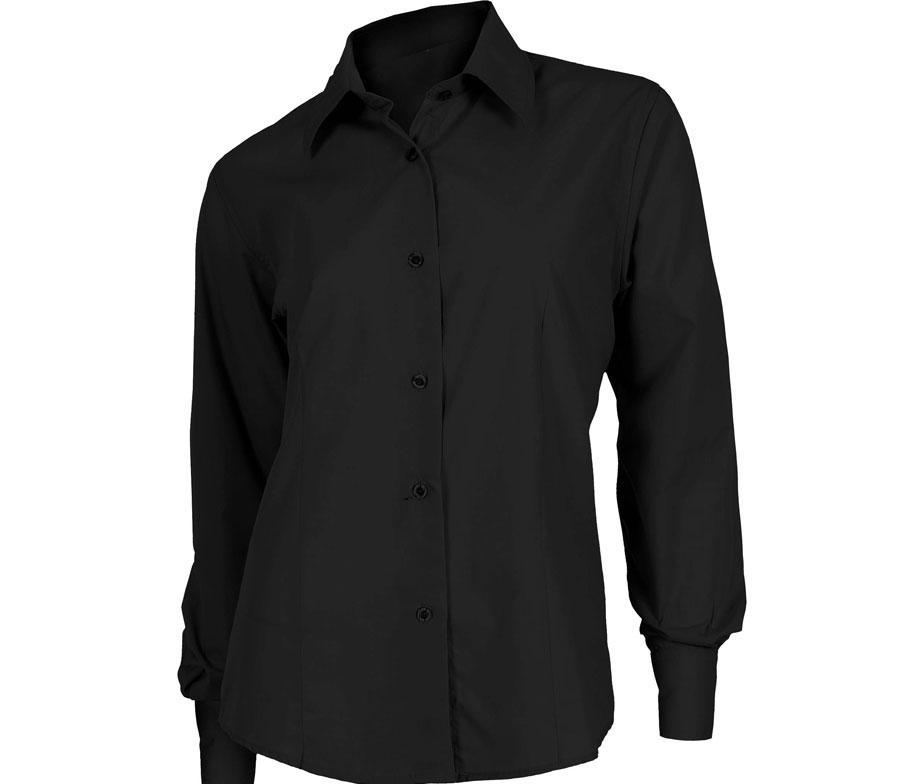 Рубашка для официанта классическая черная Atteks - 02302