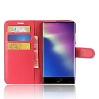 Чехол книжка Litchie Wallet для Doogee Mix Красный