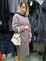 Женское зимнее пальто , Зимнее пальто из астрагана, меховое пальто с капюшоном, шуба астроган, шубка
