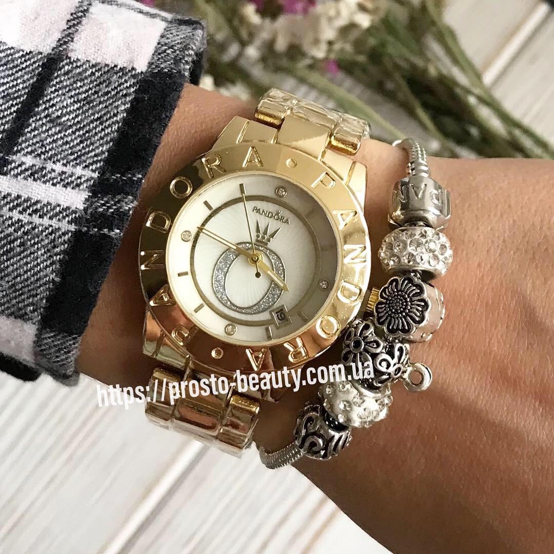 0d26ec80 Женские наручные часы Pandora с браслетом золото с короной на циферблате