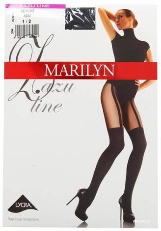 Фантазийные колготки женские Marilyn ZAZU LINE (имитация чулок), фото 2