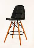 Барный стул Alex, экокожа, черный, фото 2