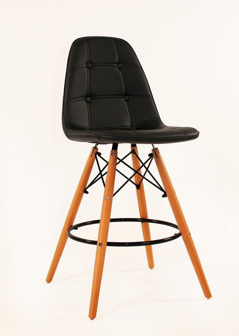 Барный стул Alex, экокожа, черный
