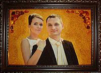 Свадебный Портрет из янтаря на заказ.