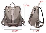Рюкзак-сумка Sujimima сіро-бежевий, фото 2