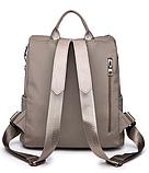 Рюкзак-сумка Sujimima сіро-бежевий, фото 4