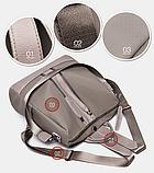 Рюкзак-сумка Sujimima сіро-бежевий, фото 6