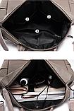 Рюкзак-сумка Sujimima сіро-бежевий, фото 7