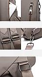 Рюкзак-сумка Sujimima сіро-бежевий, фото 8