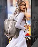 Рюкзак-сумка Sujimima сіро-бежевий, фото 9