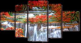 Модульная картина Interno Холст Водопад 140х76см (R744L)
