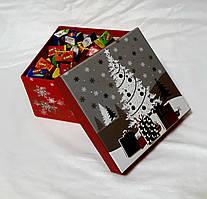 Новогодняя подарочная коробочка с 3D аппликацией