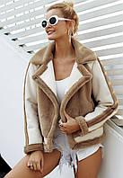Тёплая женская меховая куртка, средней длины