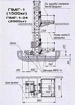 Висота Н-23 метрів. Вантажні підйомники будівельні, будівельний вантажний підйомник  г/п 1500 кг, 1,5 тонн., фото 2