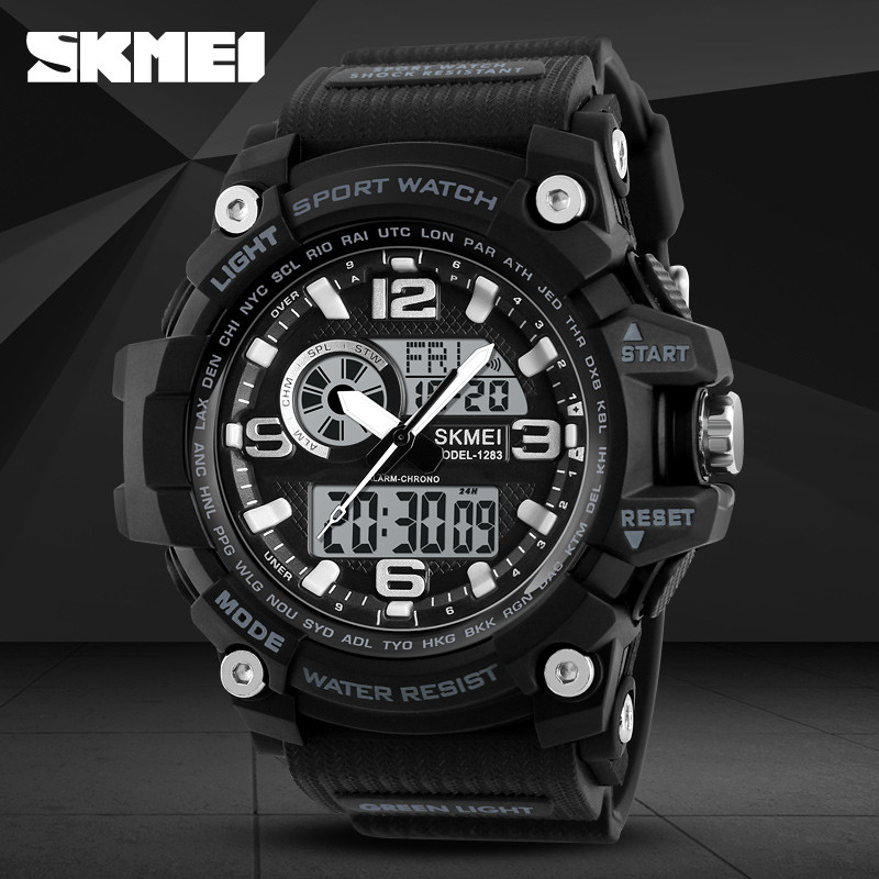 Skmei 1283 disel черные мужские спортивные часы