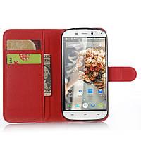 Чехол-книжка Litchie Wallet для Doogee Y100X Nova Красный