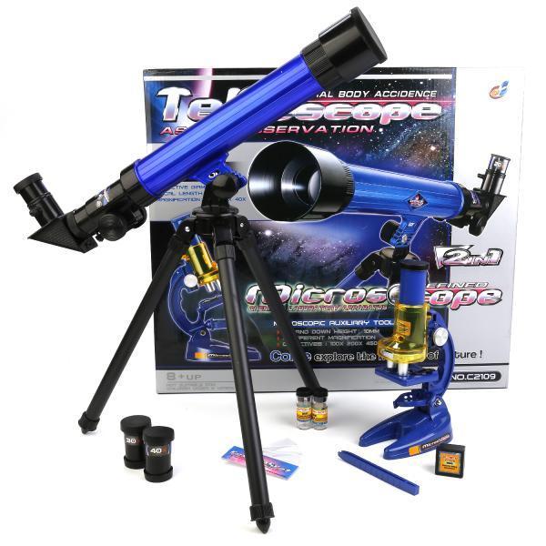 Детский телескоп + микроскоп 2в1 C2109