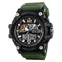 Skmei 1283  disel зеленые мужские спортивные часы, фото 1
