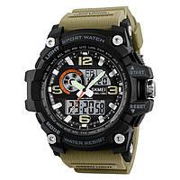 Skmei 1283  disel хаки мужские спортивные часы