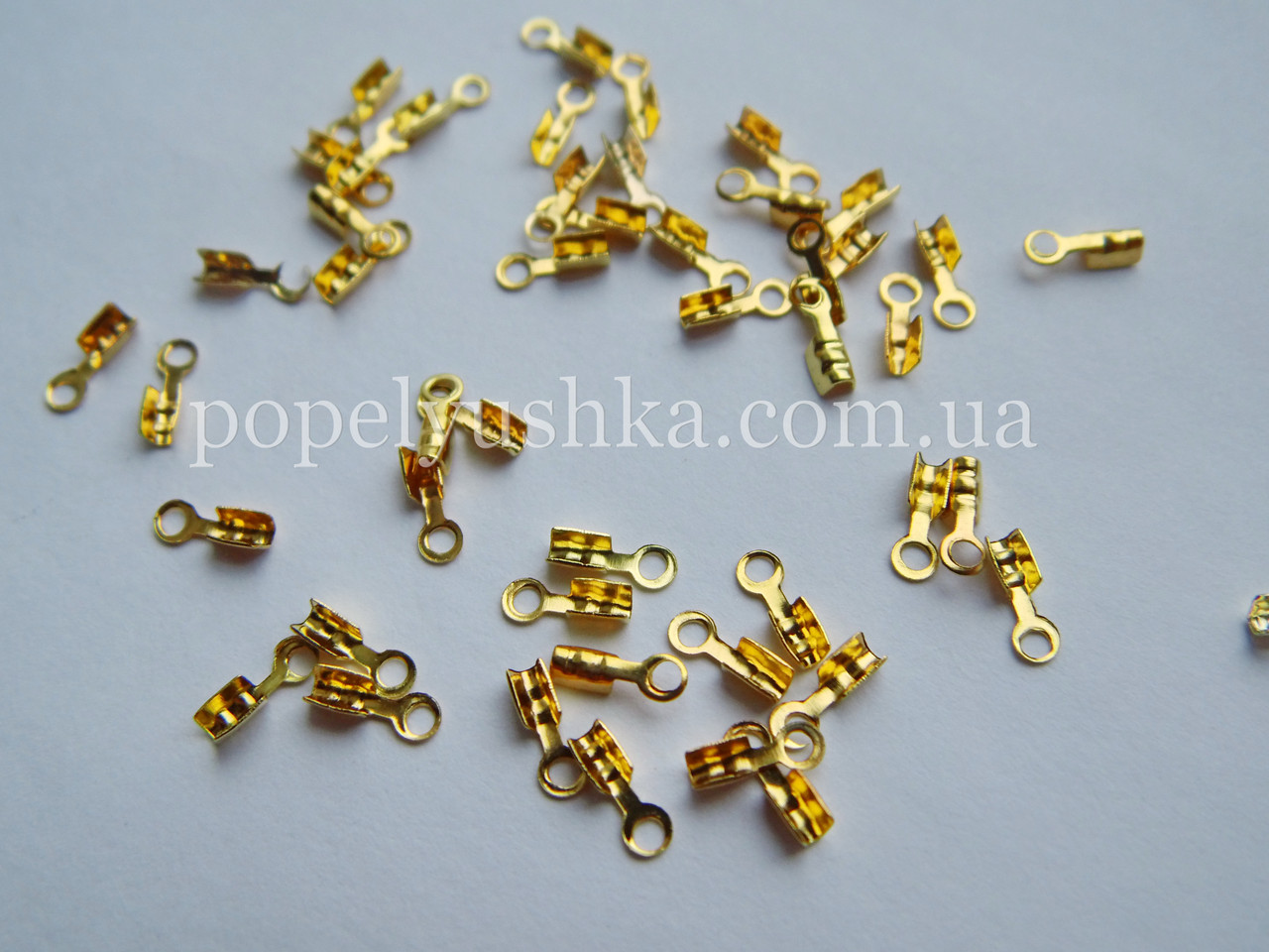 Зажими для основ золото 6 мм 5 шт/уп