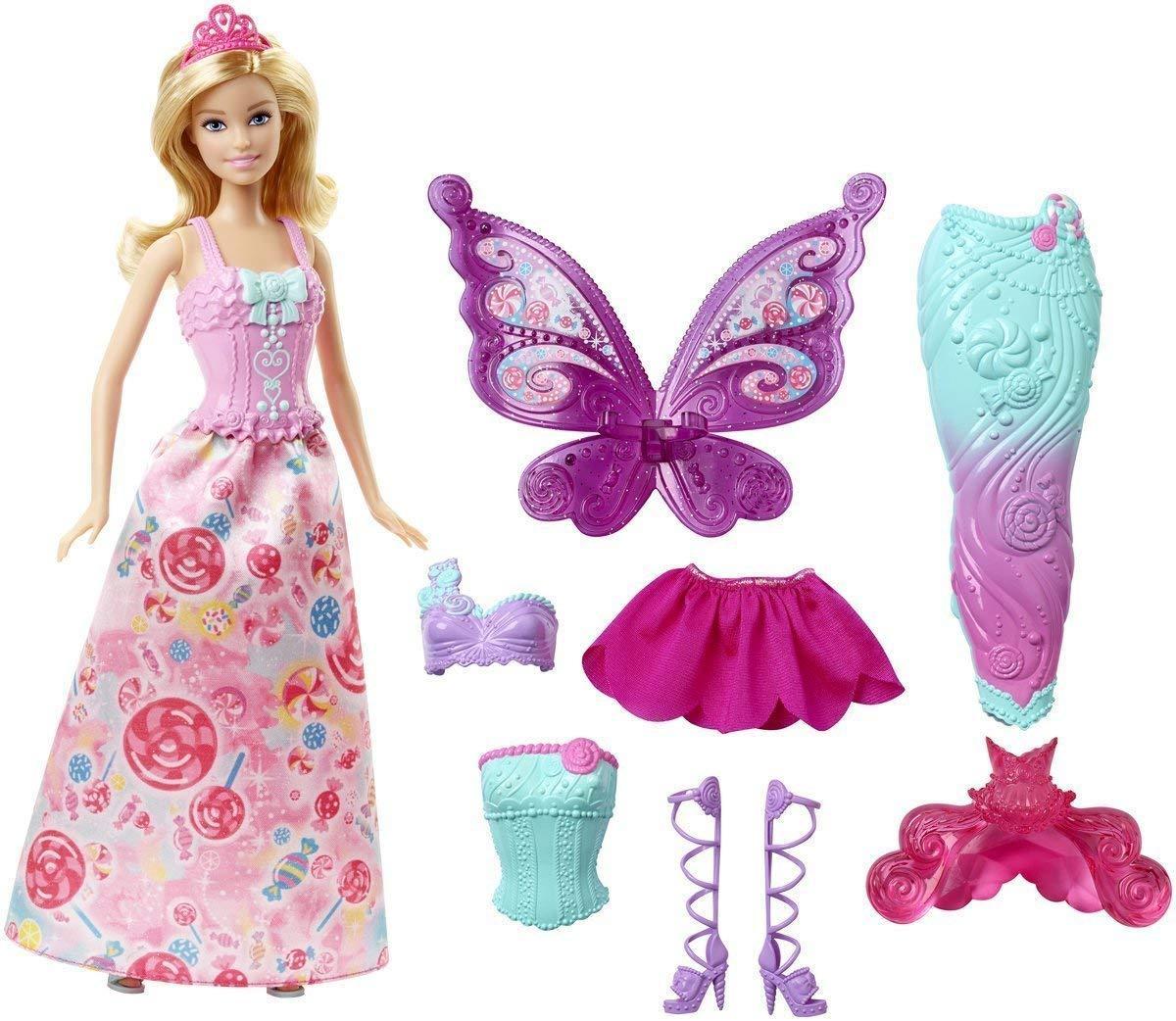 Кукла Барби Дримтопия Сказочное превращение Barbie Dreamtopia Fairytale Dress Up Doll