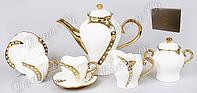 Сервис чайный  фарфоровый  15 предметов подарочный  с камнями