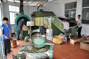 Основной процесс обработки листа для чая улун.