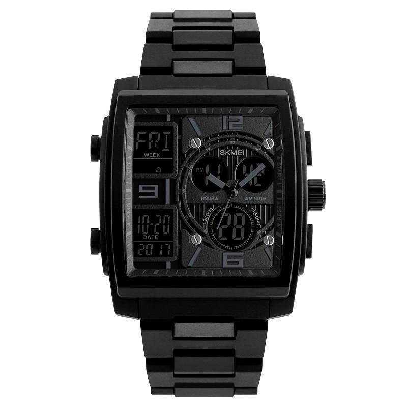 Skmei 1274 черные мужские спортивные часы