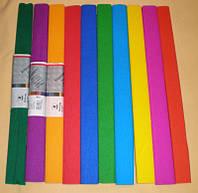 Бумага цветная Гофрированная 28 г/м.кв. 0,5х2,0м 60% (10цв в уп №7811 Мультяшки)
