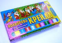 Мел цветной 12цветов в картонной упаковке уп40