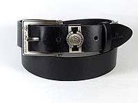 Ремень мужской кожаный PHILIPP PLEIN с классич. пряжкой 4 см, ремень ФИЛИПП ПЛЕЙН под джинсы. ЧЕРНЫЙ (реплика)