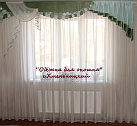Жесткий ламбрекен Смайл зелень жатка, фото 1