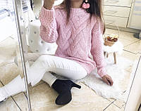 Тёплый женский свитер, крупная вязка