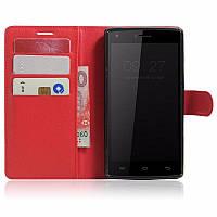 Чехол-книжка Litchie Wallet для Doogee X5 Max / X5 Max Pro Красный