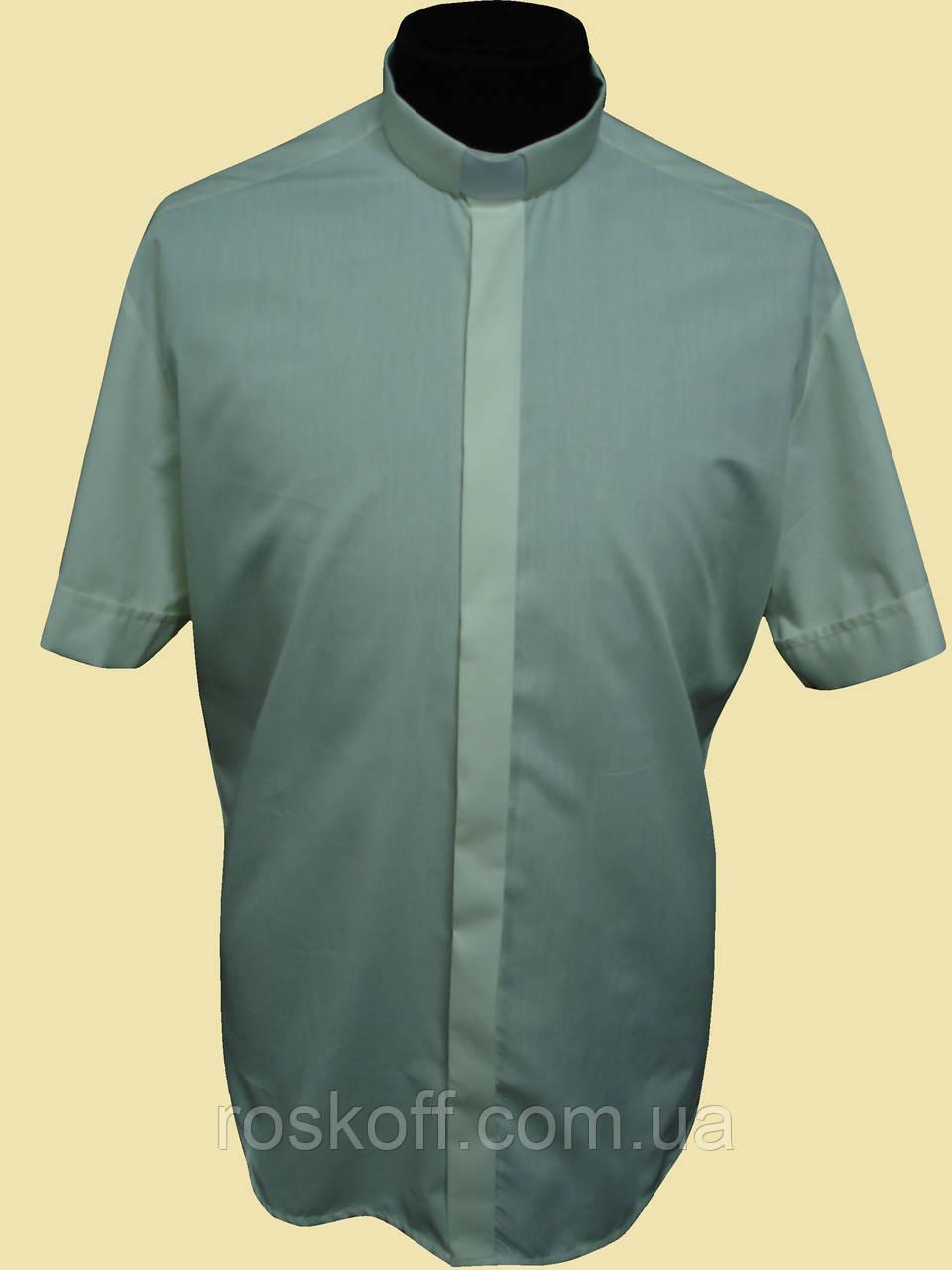 Рубашка с коротким рукавом цвета шампанского