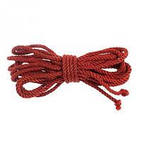 SLash Джутовая веревка для связывания красная 8 метров
