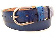 Женский синий кожаный ремень T.I.A., фото 1