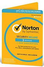 Антивирус Norton Security Deluxe для 3 ПК на 1 год (электронная лицензия)