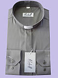 Рубашка темно-серого цвета с длинным рукавом , фото 4