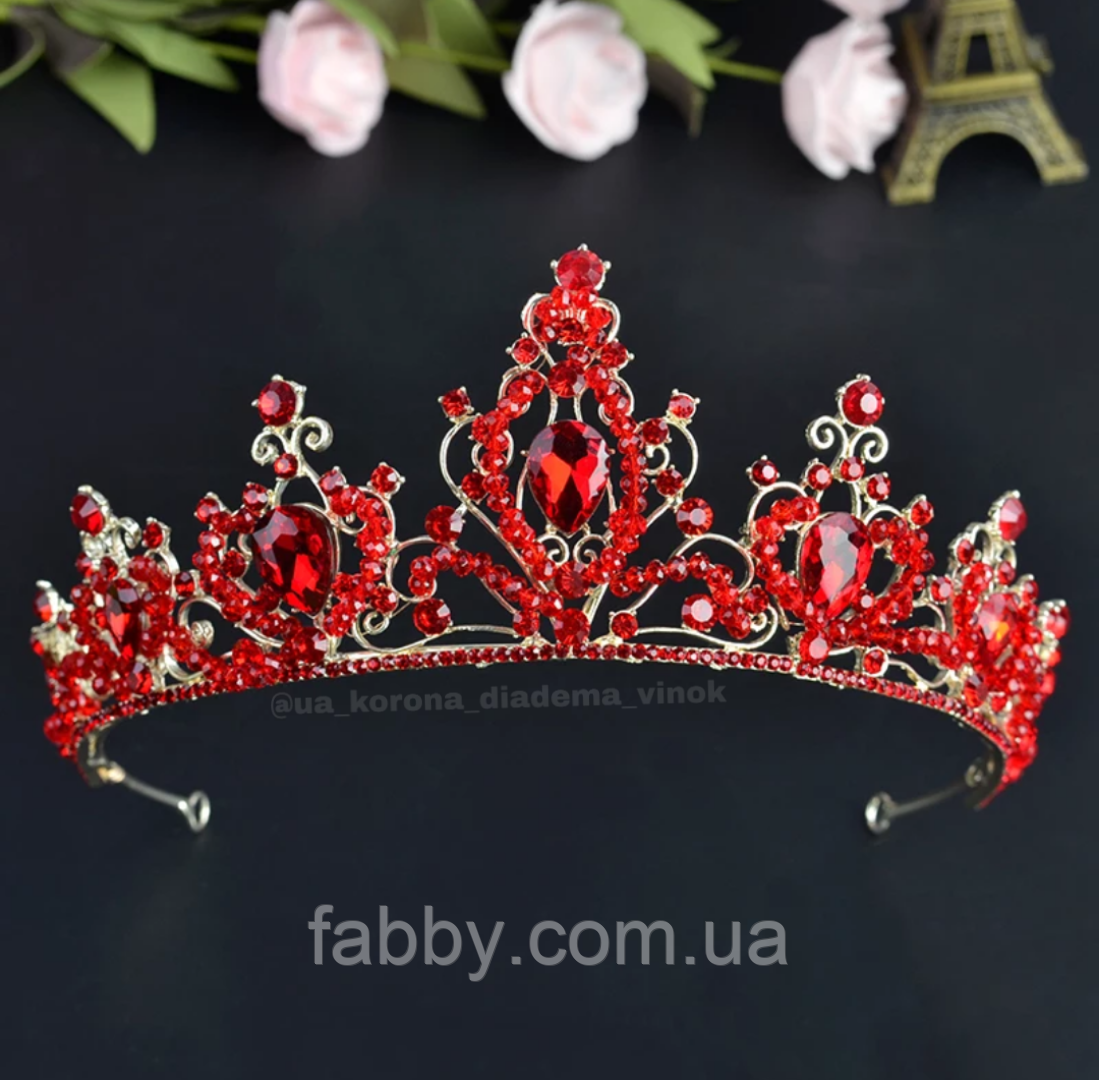 Легка корона червоного кольору