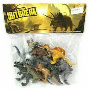 Набор Динозавров Dino outbreak , 14-17см/ 12 шт, фото 3