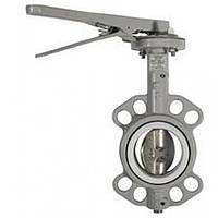 Затвор поворотный дисковый ЗПД типа  Баттерфляй с нержавеющим диском RBV-16-60 PP Ду200 Ру16
