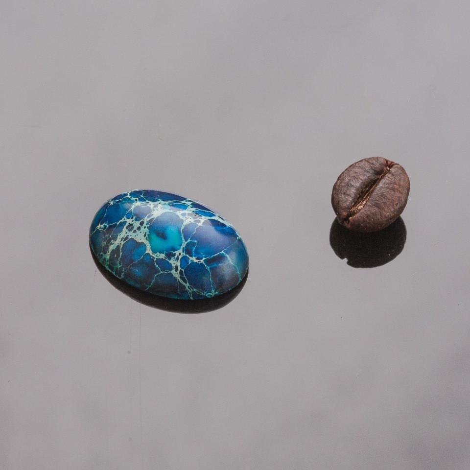Фурнитура Кабошон овал синий варисцит d-18х13мм
