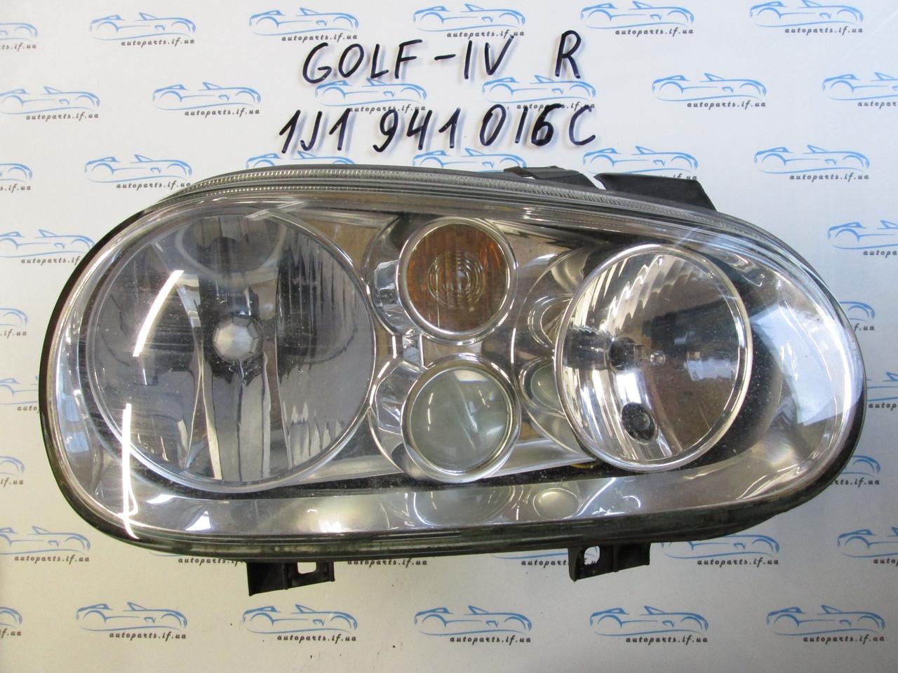 Фара правая Фольксваген Гольф 4, Golf 4 с противотуманкой 1J1941016C