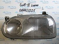 Фара левая Фольксваген Гольф 3, Golf 3 2 лампочки 84411115