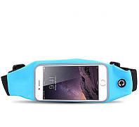 Чехол-сумка для телефона StreetGO на талию Blue (SGBPC000B3)