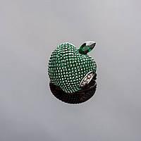 Брошь Яблоко зеленое 2х2см