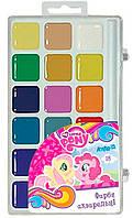 Краски акварельные 18 цв. Kite My Little Pony пласт/уп без/к LP17-042